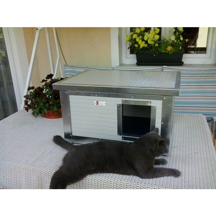 "[IF-RH_C1] INFRA HEATED Thermo Renato Cat house ""CAT"" insize (LxWxH:54x38x28cm)"