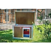 [IF-WH_P] INFRA HEATED Thermo-WOODY dog house