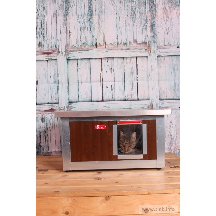 """[IF-W-HC1] INFRA HEATED Thermo WOODY Cat house """"CAT"""" insize (LxWxH:54x38x28cm)"""