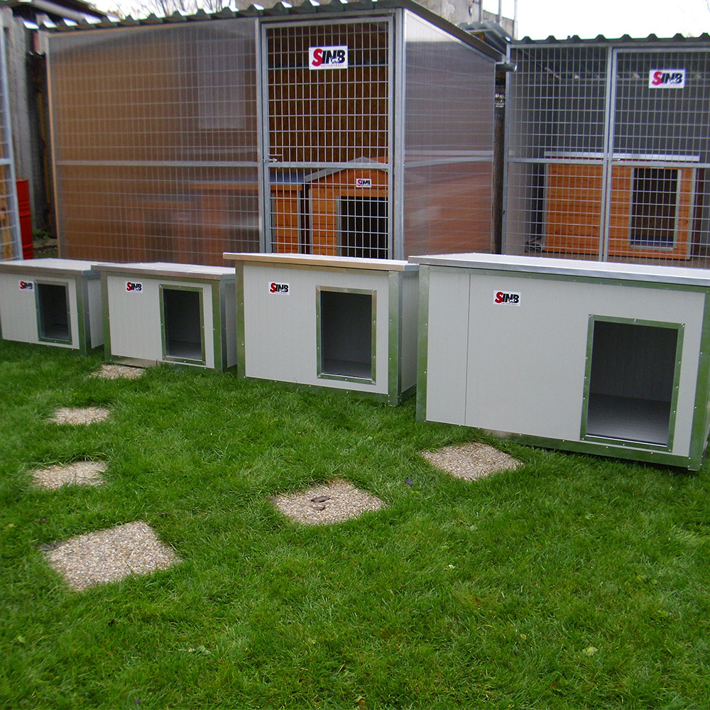 Dog house delivery in large batches.