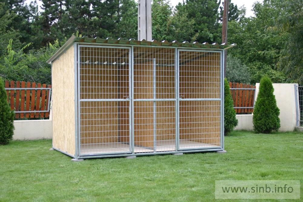 BONITA Kutya kennel, osztott, 3x2m alapterület