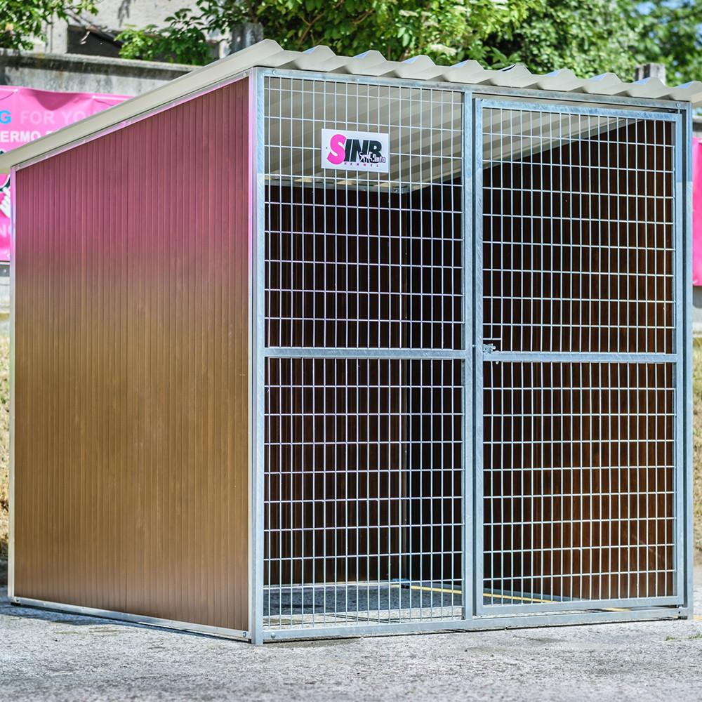 WOODY Kutya kennel, 2x2m alapterület, padozat nélkül
